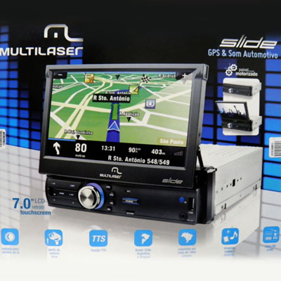 Central multimidia tv digital GPS automotivo carro BLUETOOTH tela 7 polegadas (P3211)