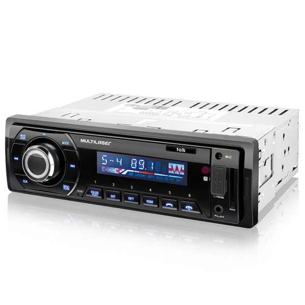 MP3 Player som Automotivo Bluetooth Rádio FM USB SD AUX Talk tunning (P3214)