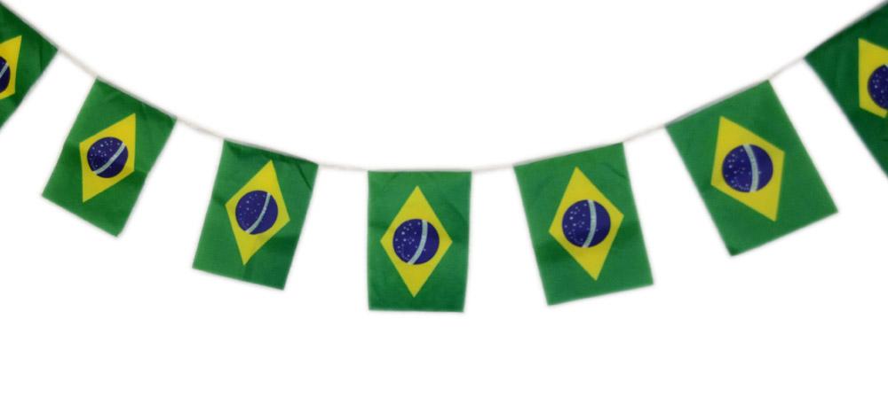... Conjunto 12 Unidades Bandeirola Bandeirao 20 Bandeira Brasil Torcida  Copa do Mundo (2014-57 ... bc0e46f97544c