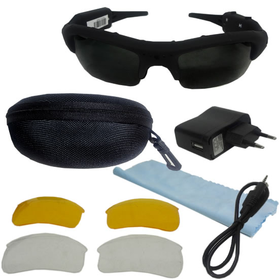 ... Oculos Espiao Camera Espia Video Filmadora Sd Espionagem (5283) - AB  MIDIA 89beed00aa