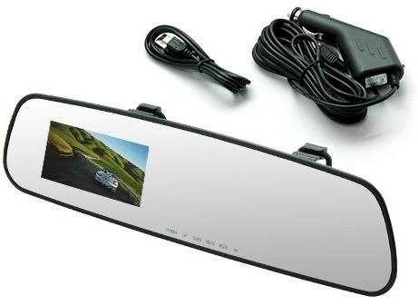 Retrovisor Camera Filmadora Espia Veicular hd Dvr Full Monitor display (L-3000 / BSL-CAR-2)