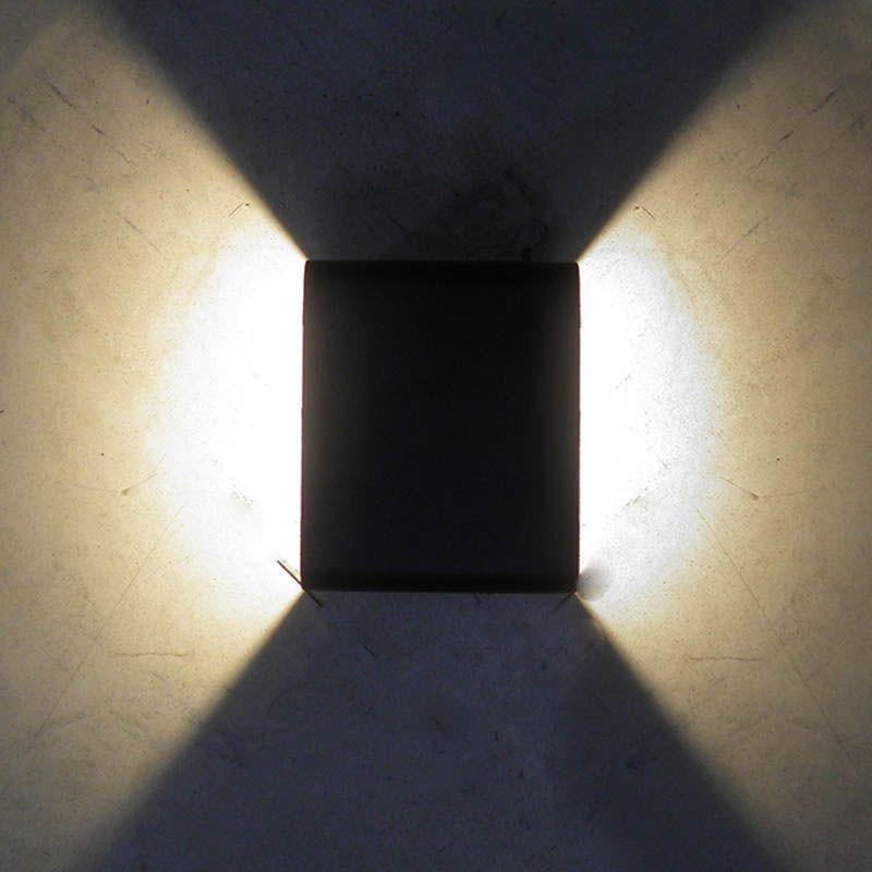 Arandela 2 Luminarias Led 3w 2 Focos Branco Quente Iluminacao Sala (Zem-31578)