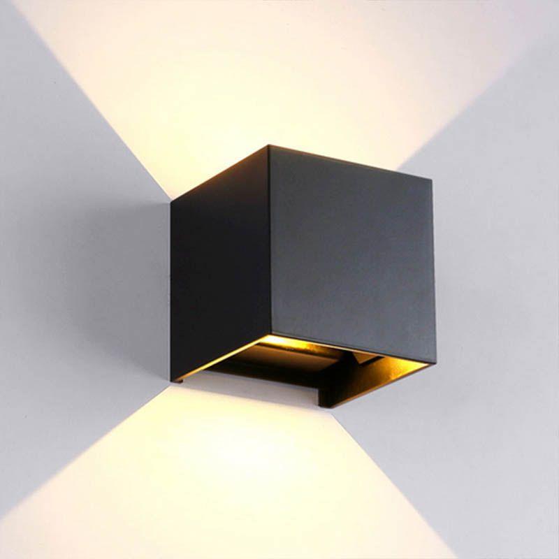 Arandela Luminaria Led Kit 2 Unidades Ajustavel 6w 2 Focos Branco Quente Iluminacao Casa (Zem-31574)