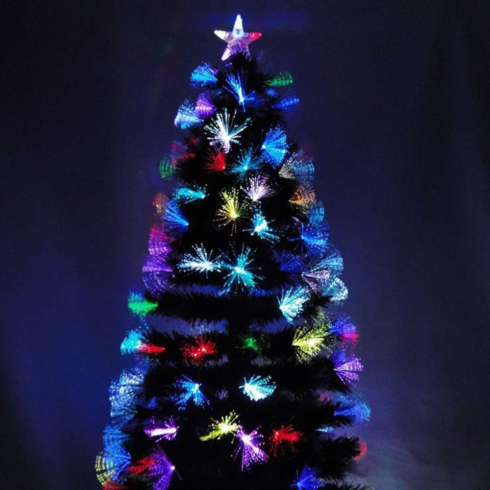 Arvore de Natal Fibra Otica LED Natalino 1.50 M 125 Galhos Topo Estrela