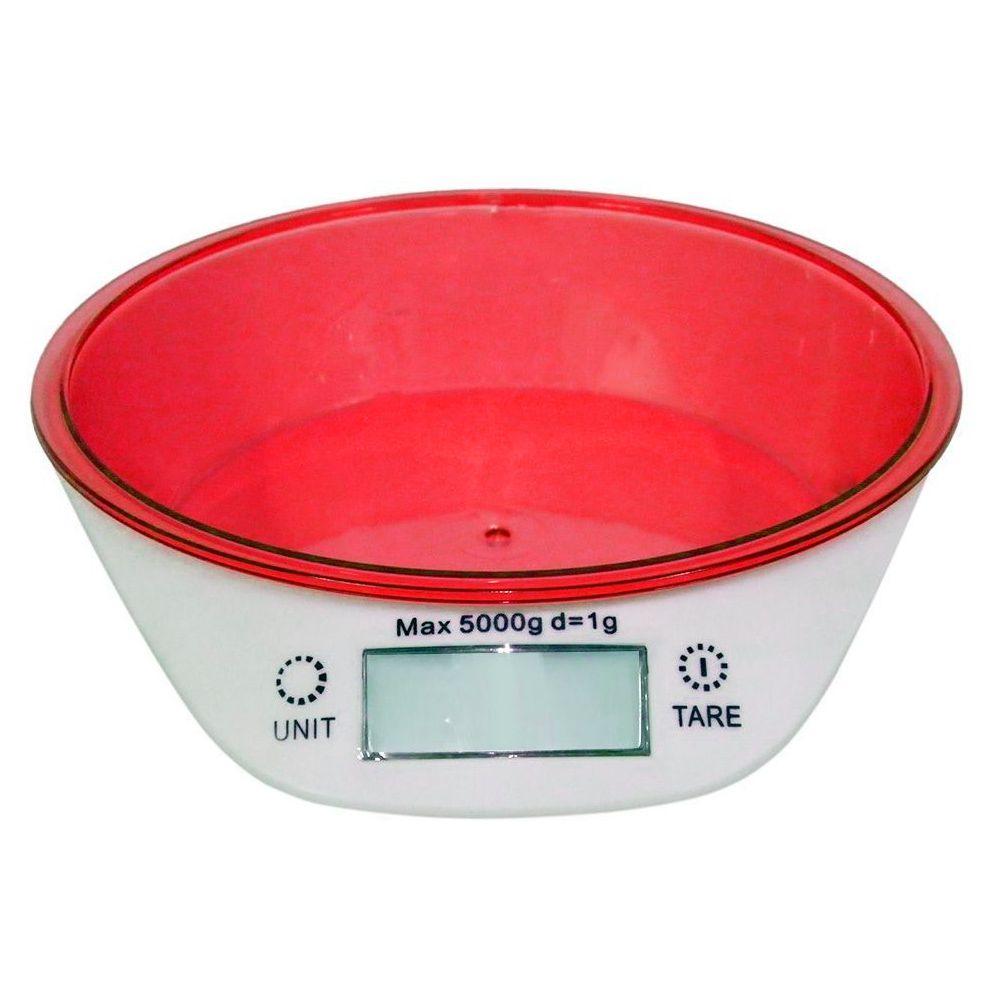 Balança Digital Vermelha Peso Volume ml Grama Kg 1g a 5kg Liquido