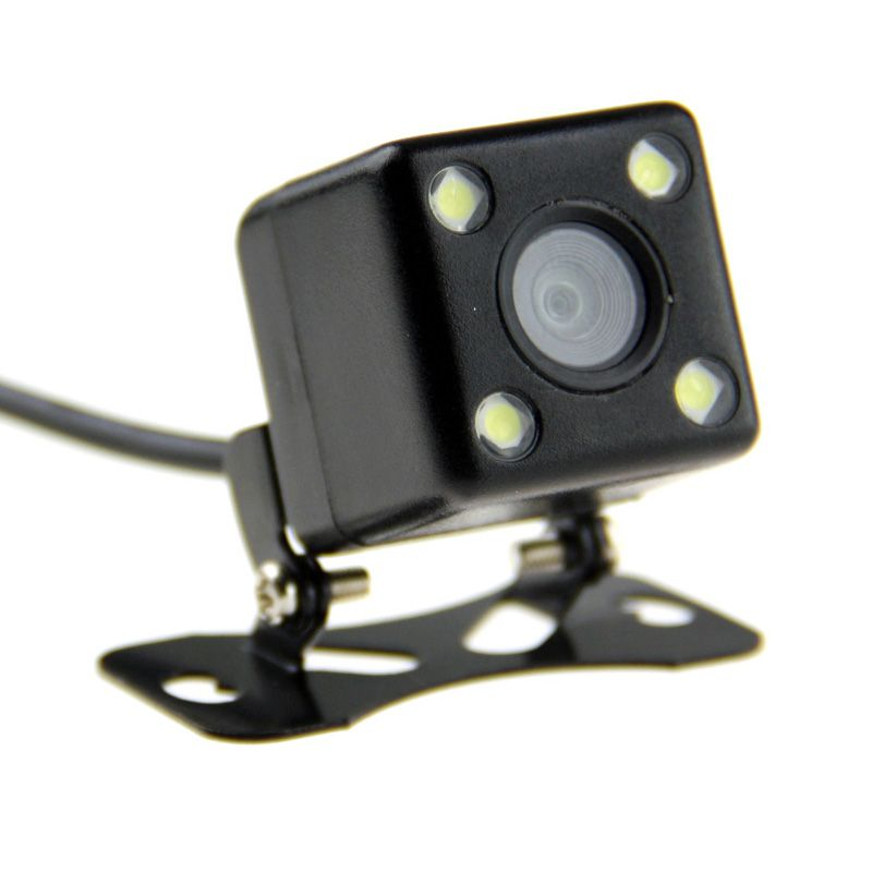 Camera De Re Automotiva Veicular 4 Leds Universal Dvd Colorida