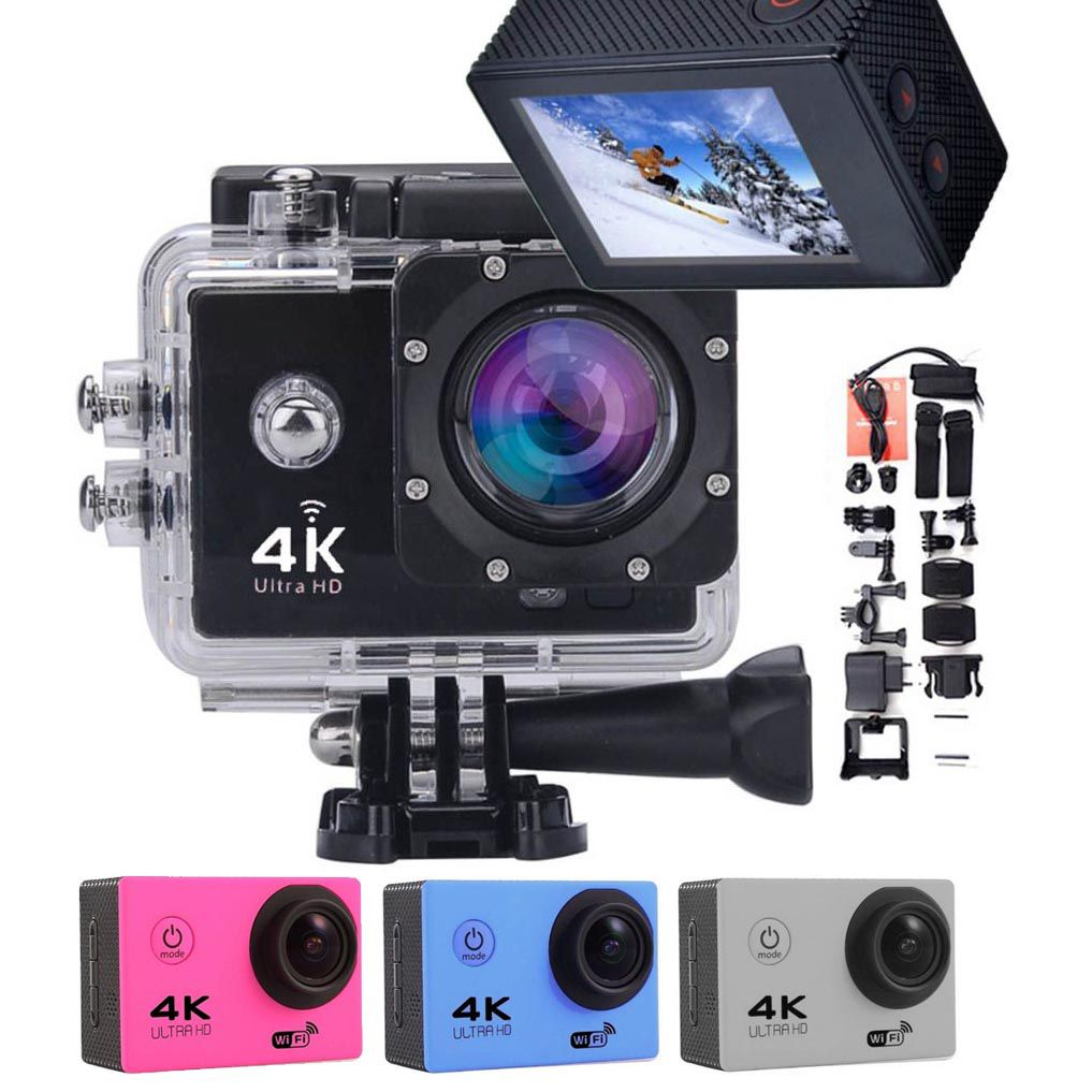 Camera Filmadora Wifi 4k Ultra Hd 16 mp A Prova D agua Acessorios Foto Video (RC439)