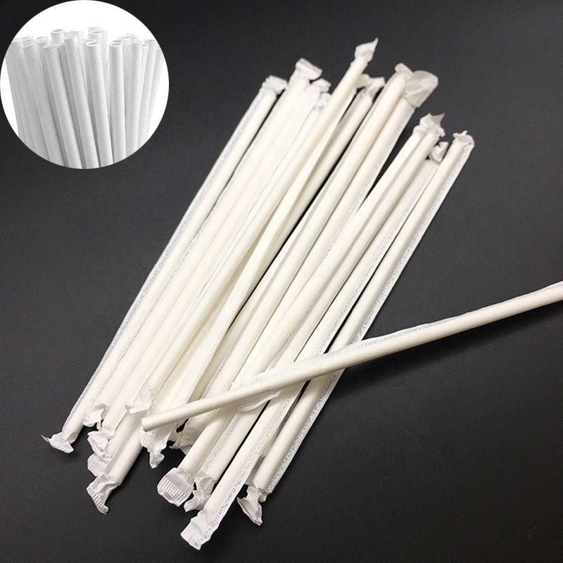 Canudo De Papel Atacado 1000 Uni Biodegradável Embalado Branco