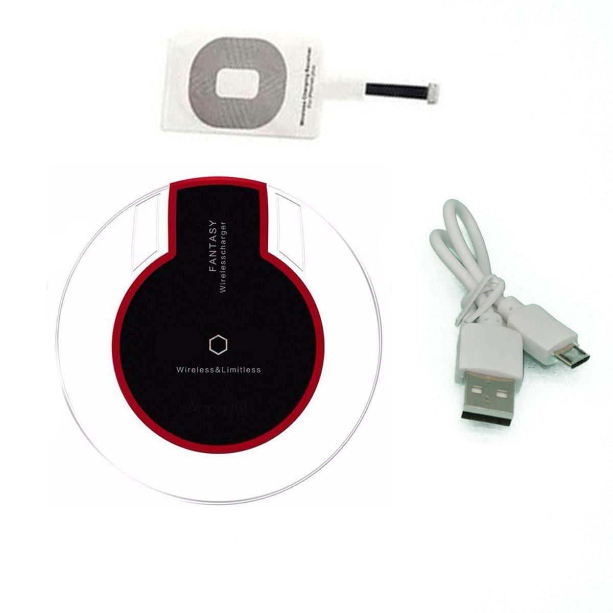 Carregador inducao Sem Fio Wireless Qi Celular Carga Para Iphone IOS (BSL-INDU-1/BSL-INDU-4/IPHONE)