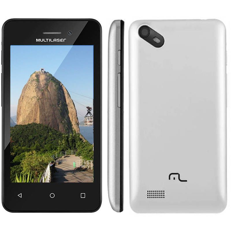 Celular Smartphone 3G 4 Pol Dual Chip Quad Core Camera 5 Mp Multilaser (NB251/252)