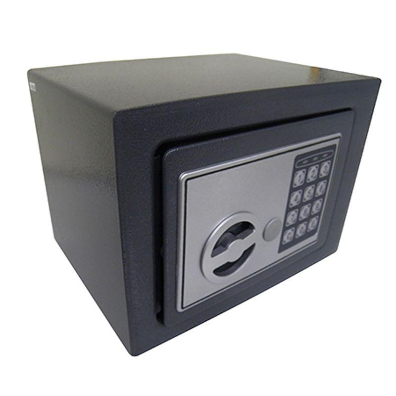 Cofre Eletronico Teclado Numerico 2 Chaves Segredo Preto