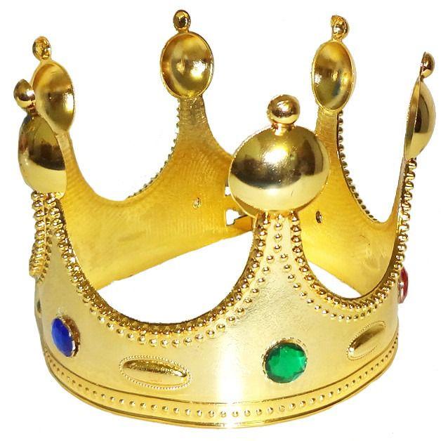 Coroa Rei Acessorio Fantasia Carnaval Festa Show Kit com 7