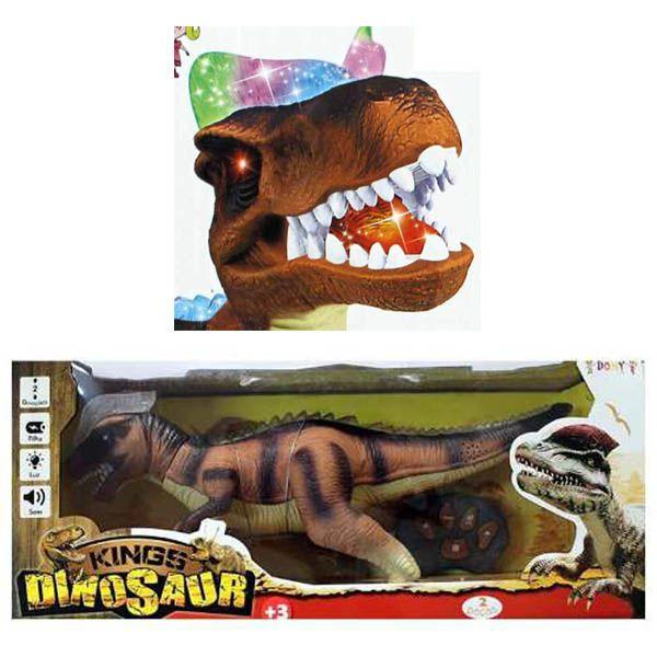 Dinossauro Brinquedo Controle Remoto Movimentos Anda Sozinho Som (F151)