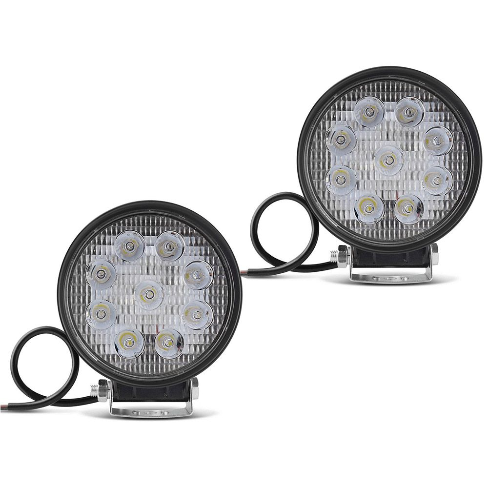 Farol de Milha Kit com 2 Refletor Redondo Led 27w Automotivo Carro Jeep (ZE-0015 / 88168)