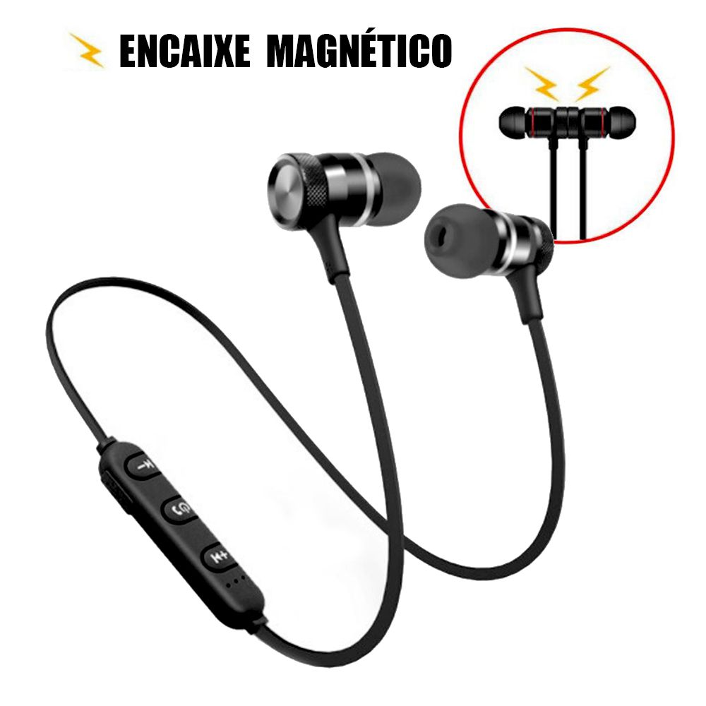 Fone Bluetooth 4.1 Headset Wireless Magnetico Ima Stereo