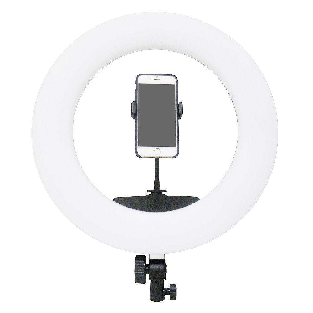 Iluminador Grande Kit Youtuber Filmagem Maquiagem Ring Light 360 Leds Celular (BSL-LUPA-8)