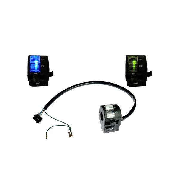 Interruptor Punho de Luz Farol Seta Buzina LED Moto Honda CG Titan Fan (4019Led)
