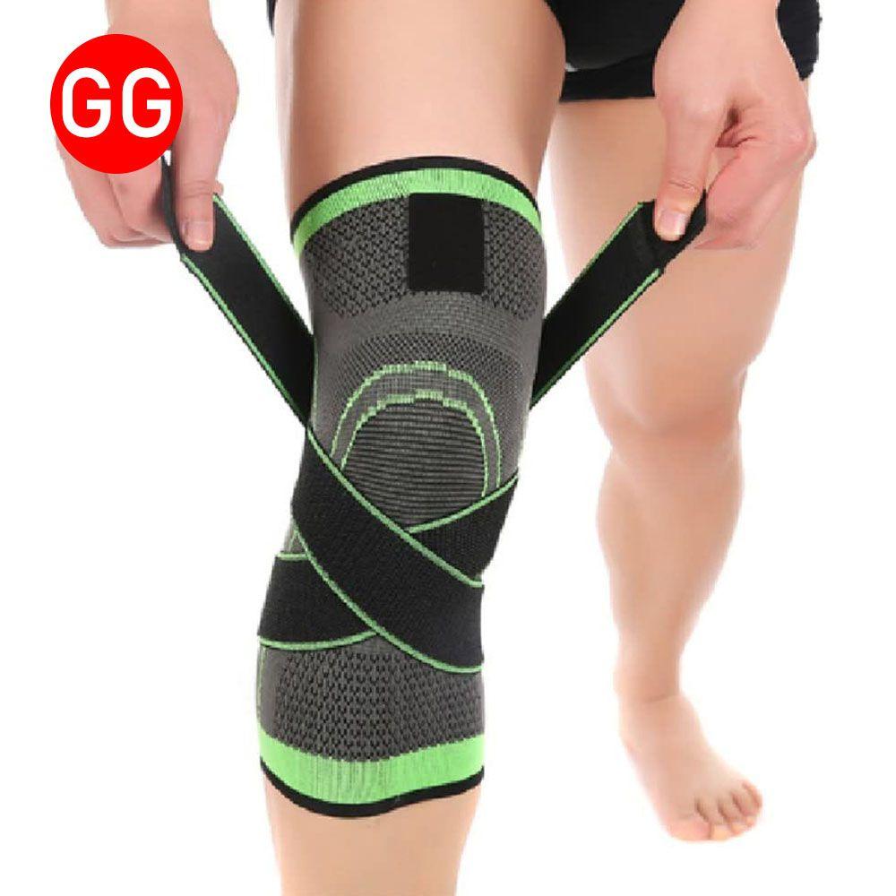 Joelheira Elastica 3D Exercício Joelhos Estabilidade Academia Apoio Suporte Articulação Fitness bandagem Compressão