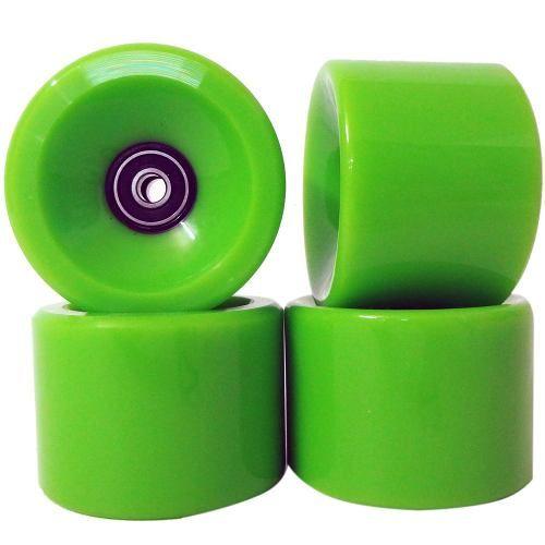 Kit 4 Rodas Para Skate Longboard 66mm com Rolamento ABEC 11 (RA-H)