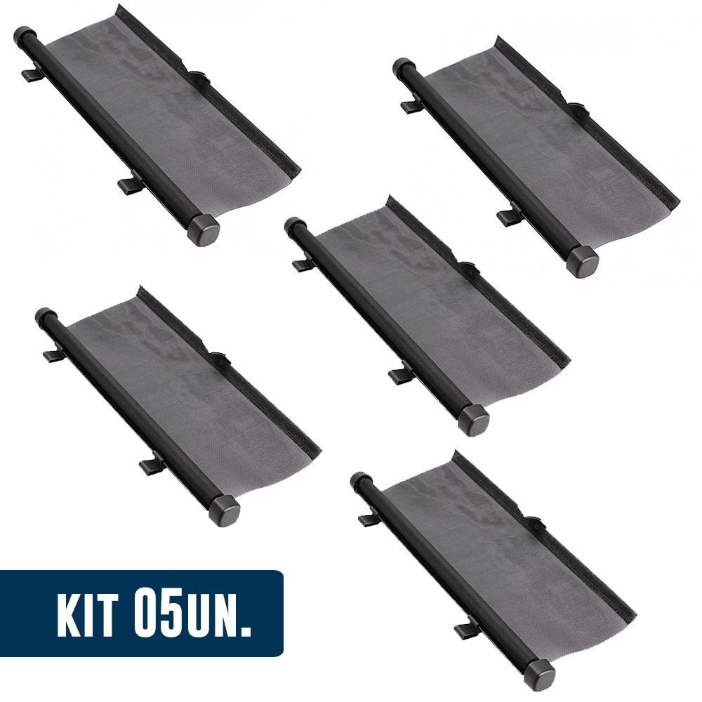 Kit 5 Un. Cortina para Janela de Carro Parasol Retratil automotivo