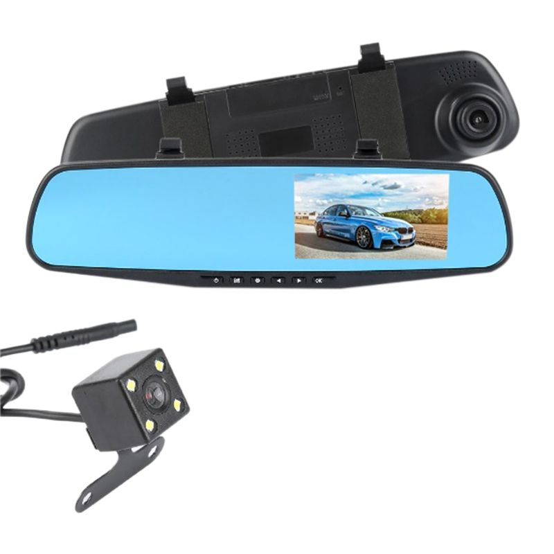 Espelho Retrovisor Camera Re Frontal Sensor Tela LCD Estacionamento Carro Kit (BSL-CAR-2)