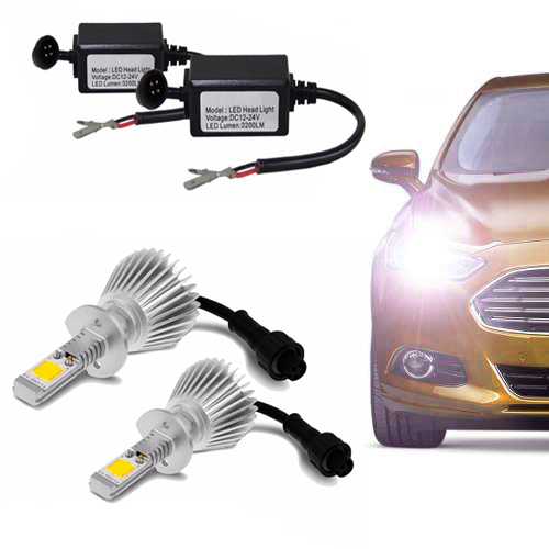 Kit de Farol para Carro Automotivo Lanterna Lampada Super Led H1 Branca 6000k Headlight (H1)