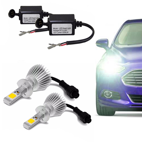 Kit de Farol para Carro Automotivo Lanterna Lampada Super Led H3 Branca 6000k Headlight (H3)