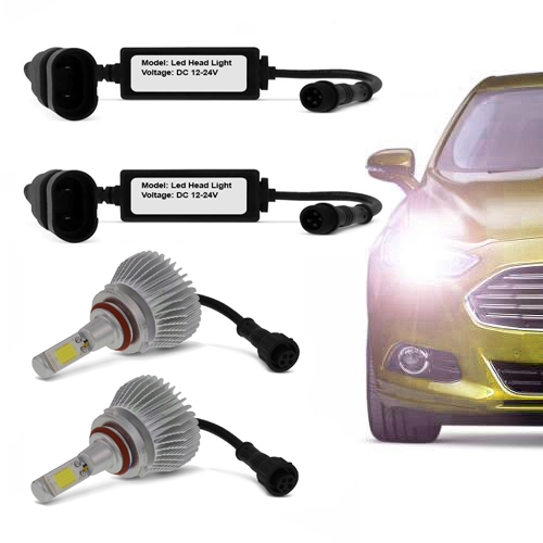Kit de Farol para Carro Automotivo Lanterna Lampada Super Led Hb3 Branca 6000k Headlight (Hb3 90005)