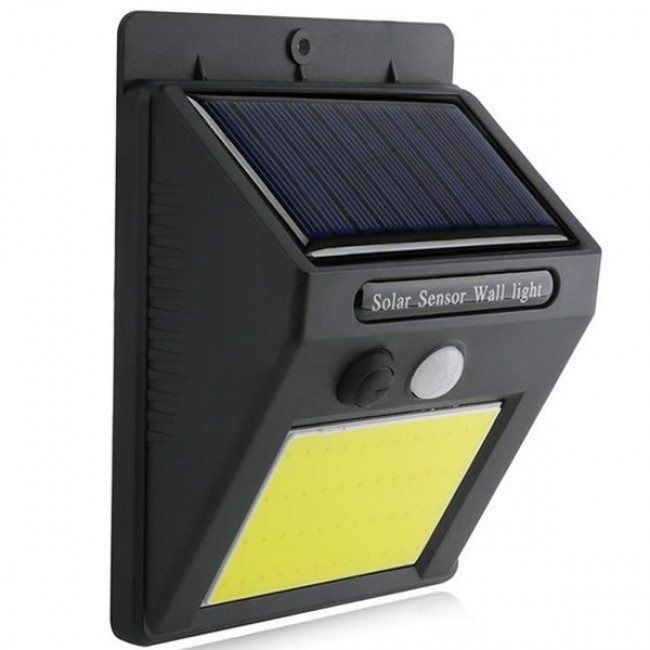 Luminaria Solar De Led Parede Lampada 48 Leds Sensor Movimento