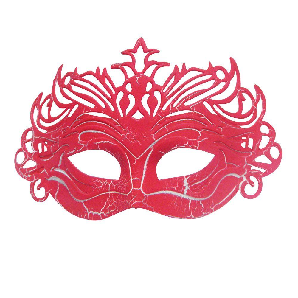 Mascara Fantasia Carnaval kit 6 uni Vermelho Festa Evento Baile Halloween