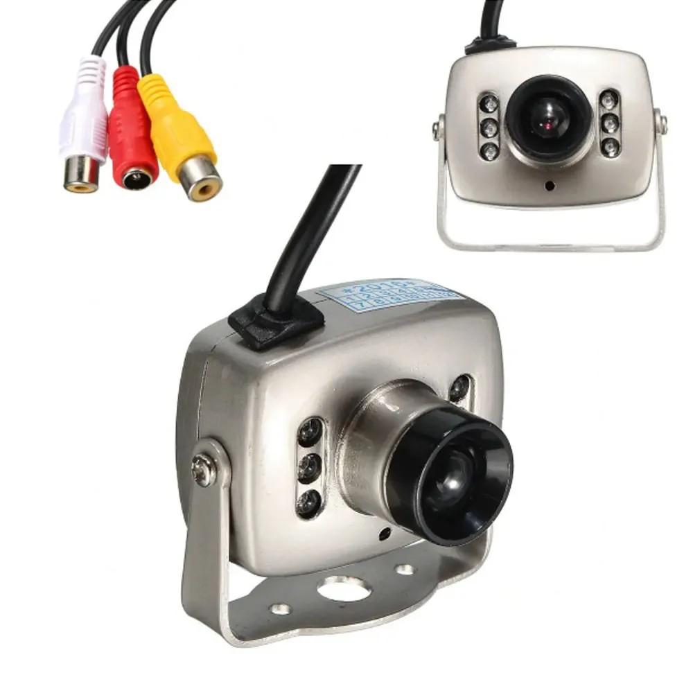 Mini camera infravermelho CCD 6 LED CMOS CCTV Segurança Colorido Visao Noturna Kit 7 Un