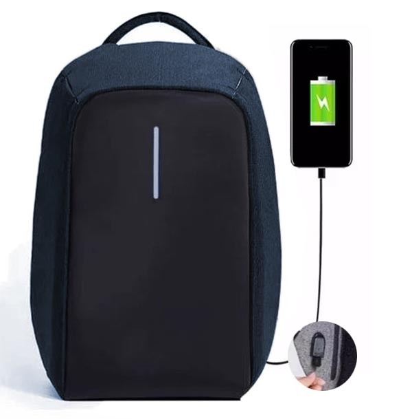 Mochila USB Notebook Anti-Roubo Furto Masc Fem Ajustavel (9008#)