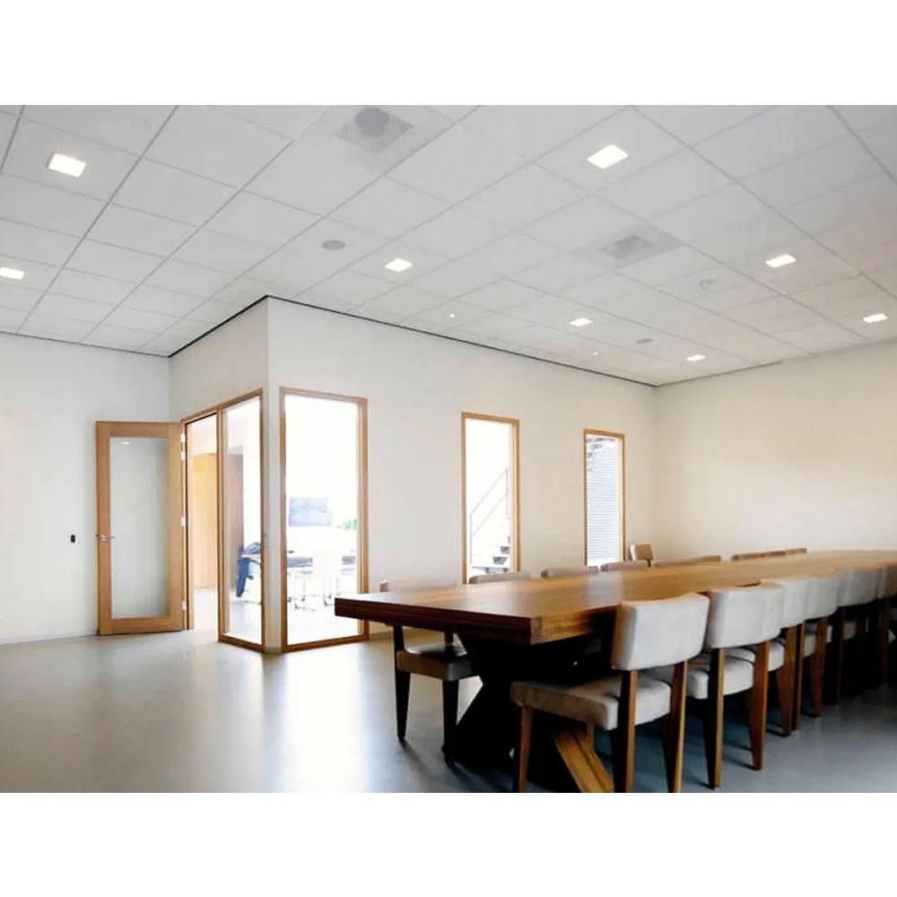 Painel Led Kit 2 unid Plafon Slim Bivolt Quadrado Luminaria Embutir Loja Iluminação Decoração