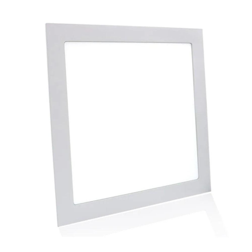 Painel Led Kit 6 unid 48w Plafon Slim  Luminaria Embutir Quadrado Loja Iluminação Decoração