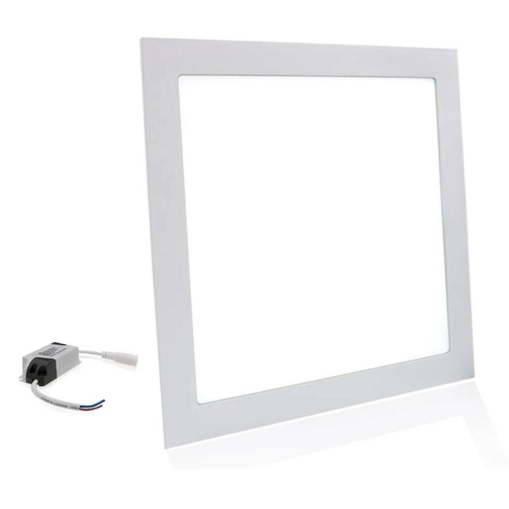 Painel Led Plafon Quadrado Luminaria Bivolt Slim Embutir Loja Decoração Iluminação