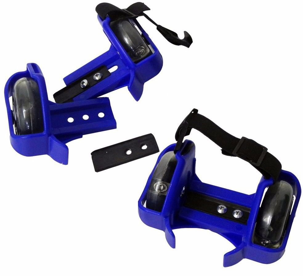 Patins Adaptado Kit 2 PARES Rodas Led AZUL (SKT-11 AZUL)