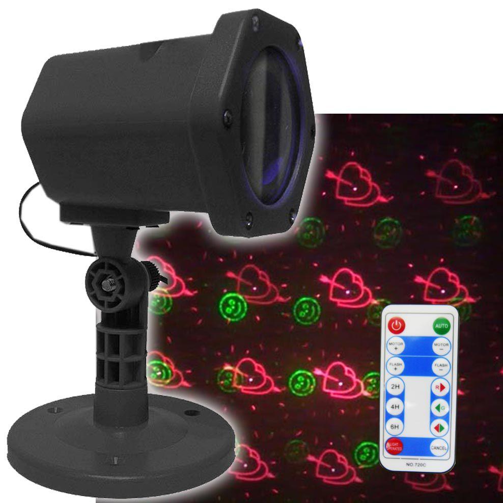 Projetor Laser Controle Remoto Luzes Natal Balada Festa Decoracao (888647)
