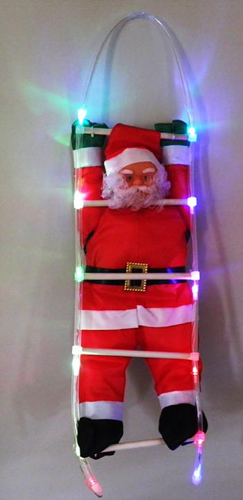 Papai Noel com led escalador Natal decoração natalina (NTC2010)