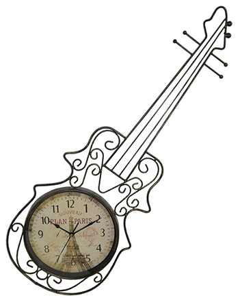 Relogio Parede Violino Vintage Retro  Decorativo Decoracao Musica Hora Casa Quarto (REL-44)