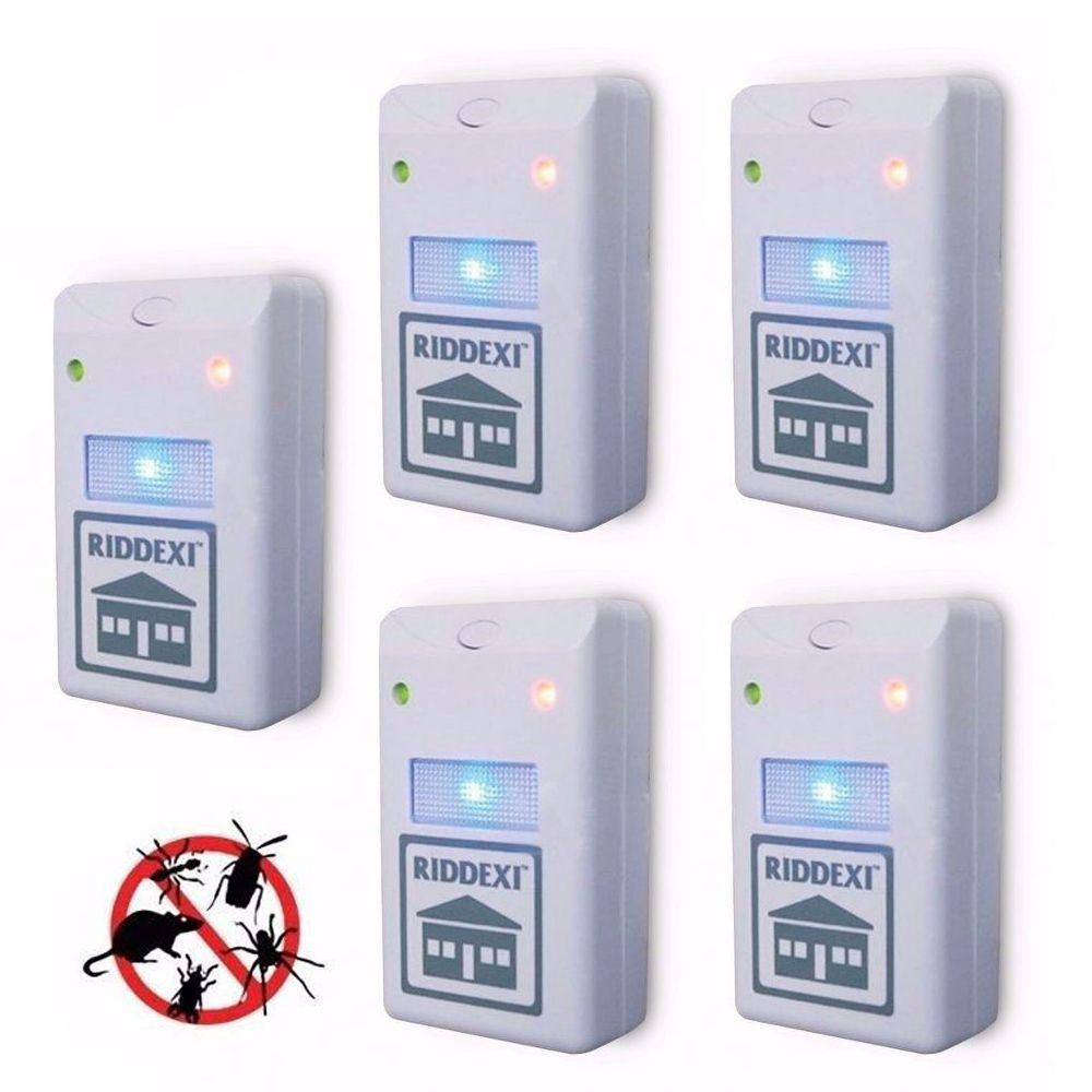 Repelente Eletrico Dengue Mosquitos Barata Rato Inseto Kit 5 (888018)