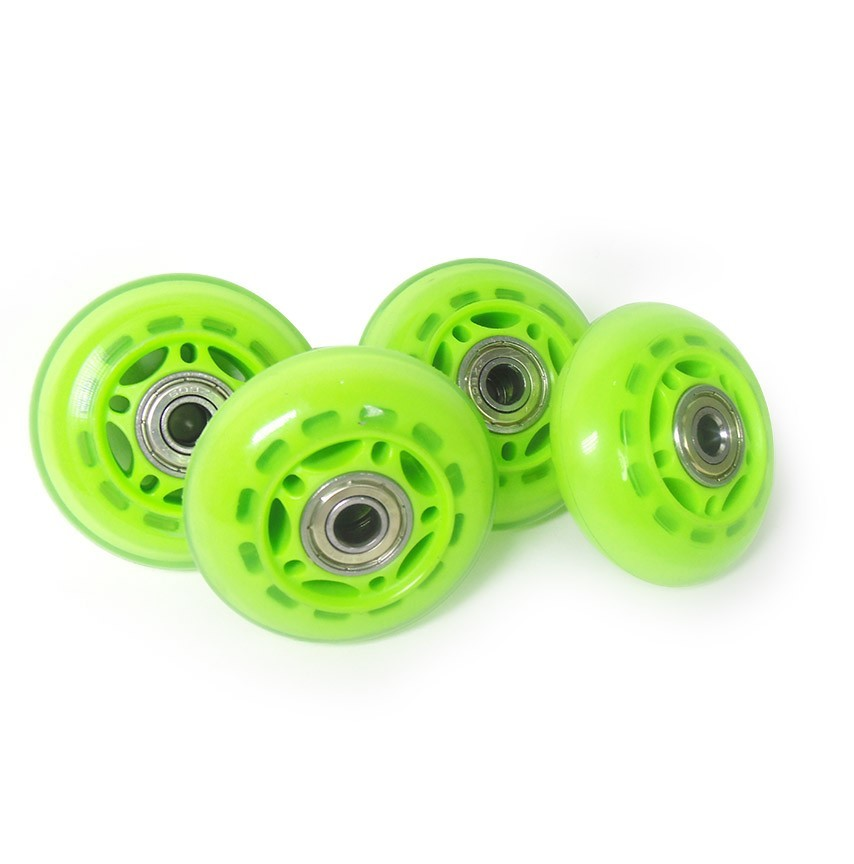 Roda Rodinha de Patins Pequena Kit 4 Unidades Verde (RA-A)