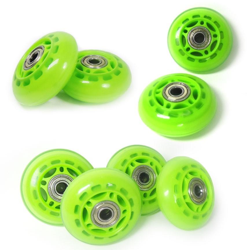Roda Rodinha de Patins Pequena Kit 8 Unidades Verde (RA-A)