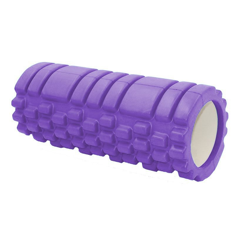 Rolo Miofascial Exercicio Pilates Massagem Roller Foam Yoga Fitness Roxo