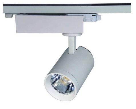 Trilho eletrificado Com 2 Luminarias Spot Led 20w Bivolt 1 Metro Iluminacao Salao Quarto (ZEM-31430-B /31655-A)