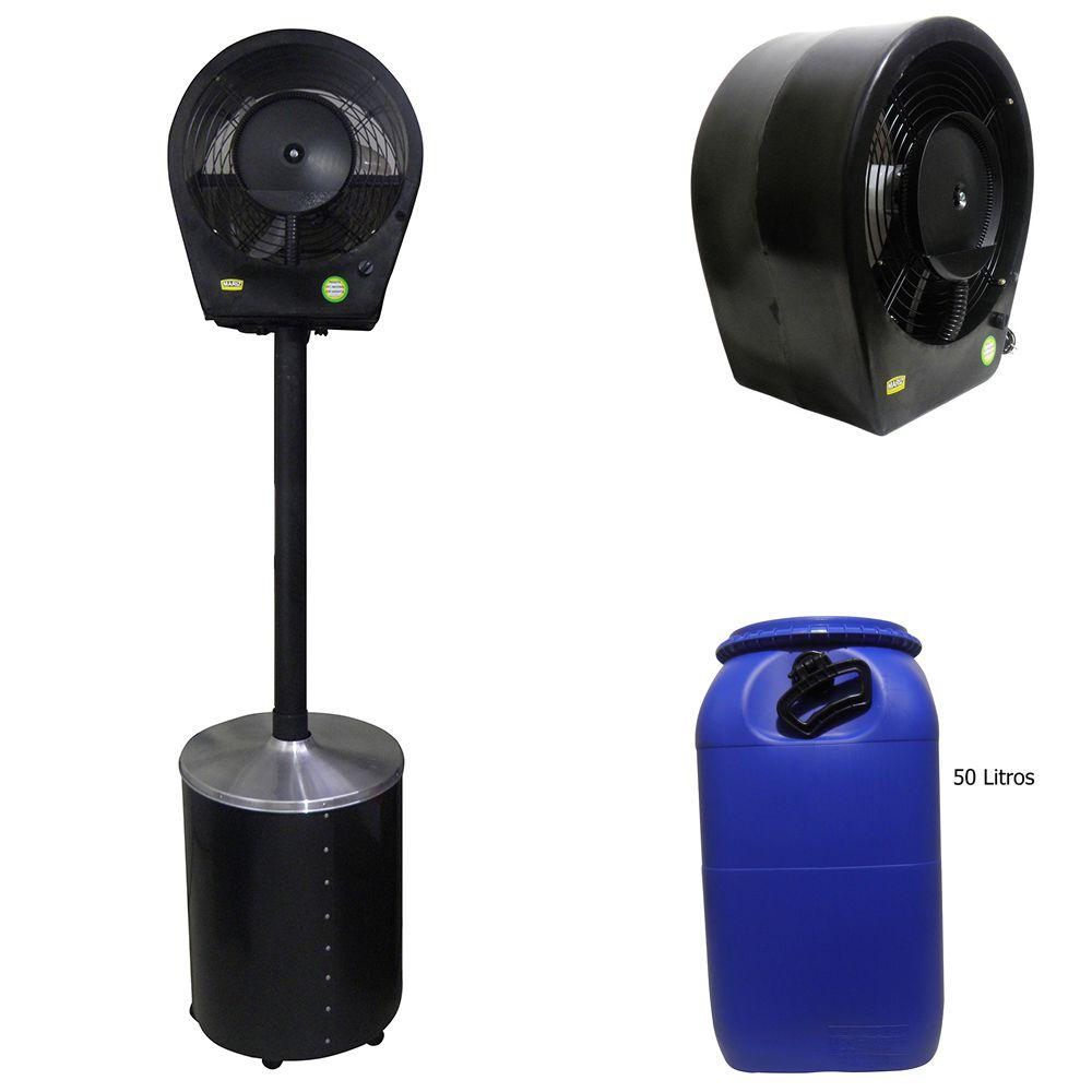 Ventilador Climatizador Com Pedestal Umidificador Nevoa 90w 127v ou 220v