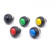 Botão Push Button 12mm À Prova D' Água Pbs-33b (Kit com 5 unidades)