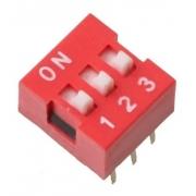 Chave Seletora DIP Switch 3 Vias 180 Graus