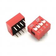 Chave Seletora DIP Switch 4 Vias 180 Graus