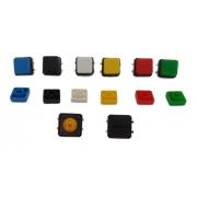 Chave Táctil Push Button Botão com Capa Quadrada (Kit com 5 unidades)