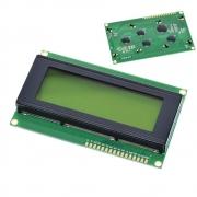 Display Lcd 20x4 2004 I2c Backlight Verde Escrita Preta